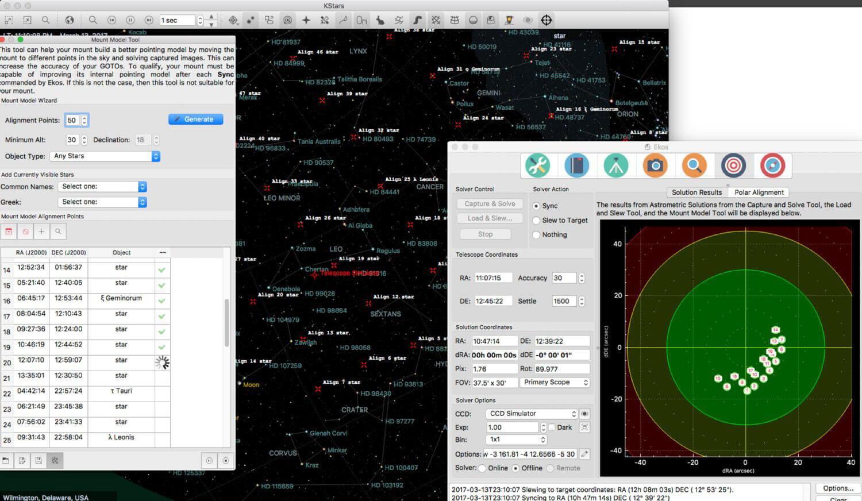 Wi-Fi Astrophotograph System Controller Equipment Mount Modelling Screenshot