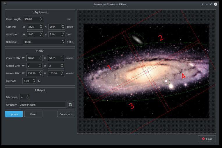 Wi-Fi Astrophotograph System Controller Equipment Robotic Operation Screenshot