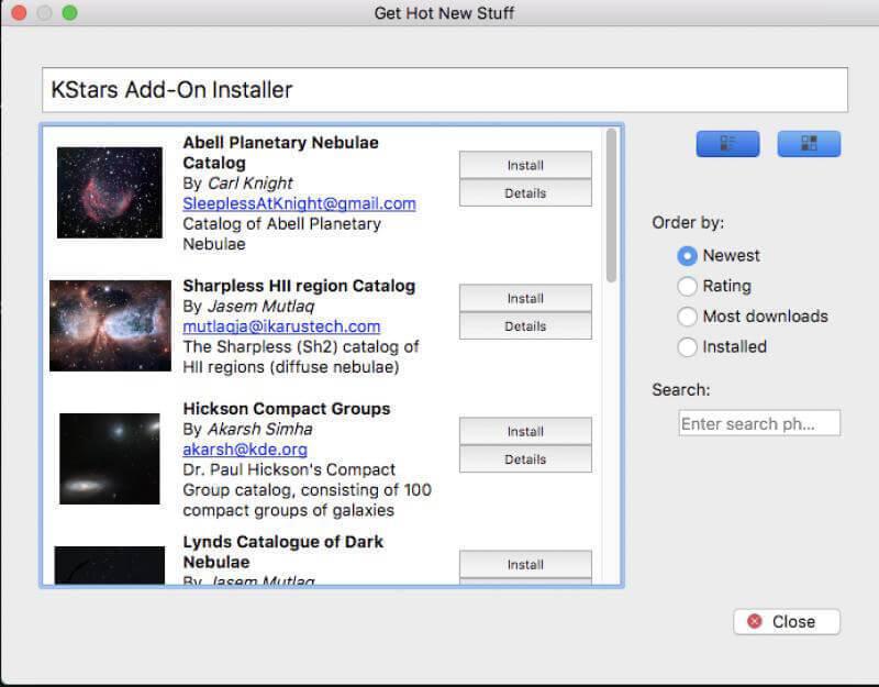 Wi-Fi Astrophotograph System Controller Extend Screenshot